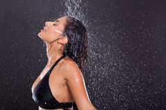 Girl water splashes Stock Photography