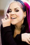 Girl Punk Fashion Model royalty free stock images