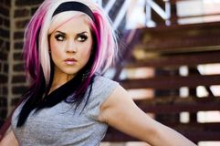 Girl Punk Fashion Model Royalty Free Stock Image