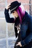 Sexy Girl Punk Fashion Model Stock Photo