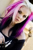 Sexy Girl Punk Fashion Model Royalty Free Stock Images