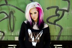 Girl Punk Fashion Model Royalty Free Stock Images