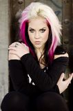 Sexy Girl Punk Fashion Model Royalty Free Stock Photography
