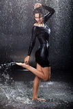 Sexy girl in the rain. Stock Photography