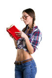 Sexy girl reading Royalty Free Stock Photo