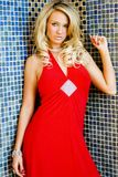 Girl in Red dress royalty free stock photo