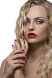 Sexy girl with red lips Royalty Free Stock Photo