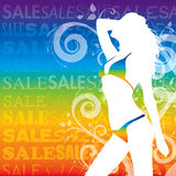 Sexy girl sales. Eps  sexy girls sale template Stock Images