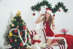 Sexy girl Santa Royalty Free Stock Photos