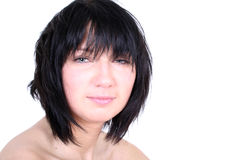 Sexy girl with shaggy hair Royalty Free Stock Photography