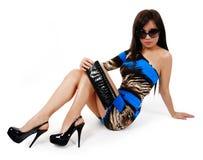 girl sit on floor Stock Photo
