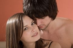 girl with smile and boy royalty free stock images