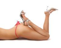Sexy girl with stilettos Stock Photos