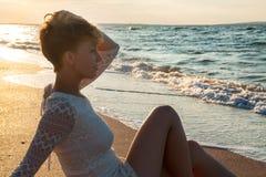 Sexy girl on  beach Stock Image
