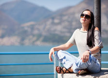 Sexy girl with sunglasses Stock Photo