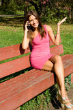 girl talking by phone Royalty Free Stock Photography