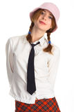Sexy girl with a tie Stock Photo