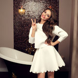 girl in top and skirt Royalty Free Stock Images