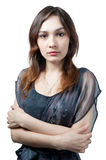 girl in transparent dress Royalty Free Stock Photo