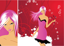 Sexy girl vector Royalty Free Stock Image