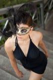 Sexy girl in venetian mask Stock Photography