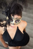 Sexy girl in venetian mask Royalty Free Stock Images