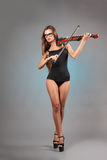 Sexy girl with a violin Stock Photography
