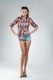 girl wearing hot pants Stock Photos