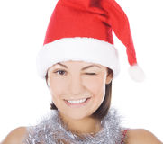 Sexy girl wearing santa claus Royalty Free Stock Photography