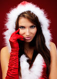 Sexy girl wearing santa claus clothe Stock Photography