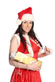 Sexy girl wearing santa claus clothes, christmas Royalty Free Stock Images
