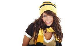 Sexy girl wearing winter hat Royalty Free Stock Image