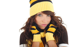 Sexy girl wearing winter hat Royalty Free Stock Photos