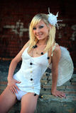 Sexy girl with wings Stock Photo