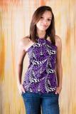 Sexy girl woman fashion model bruneete Royalty Free Stock Photo