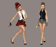 Girls royalty free stock photos
