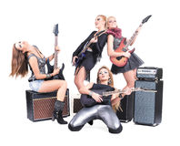Sexy girls band Stock Photo
