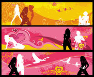 girls banners. Stock Images