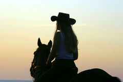 Girls cowboy stock photo
