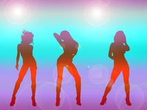 Sexy girls dancing Stock Images
