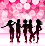 Sexy girls design background. Original  illustration: Sexy girls design background Royalty Free Stock Photos