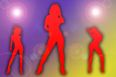 Sexy girls at the disco Royalty Free Stock Photo