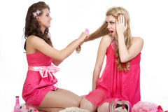 Girls in pink Stock Photo