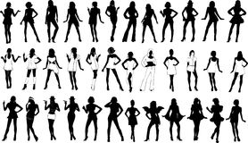 Sexy girls silhoutte Royalty Free Stock Photo
