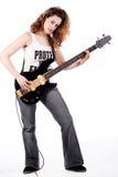 Sexy gitaarspeler Stock Afbeeldingen