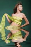 glamor woman - water effect Stock Image