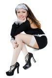 Sexy glimlachend jong meisje Royalty-vrije Stock Fotografie