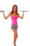 Sexy Golfspeler stock afbeeldingen