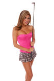 Sexy Golfspeler royalty-vrije stock foto