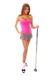 Sexy Golfspeler royalty-vrije stock fotografie